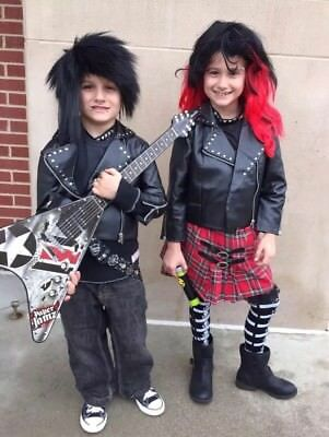 Punk Rock Halloween Costume Girl (Chasing Fireflies Punk Rock Halloween Costume For Girl Age (6), Boy Age)