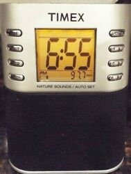 Timex T307S Radio Alarm Clock with Nature Sounds Dual Alarm MP3/AUX - Tested