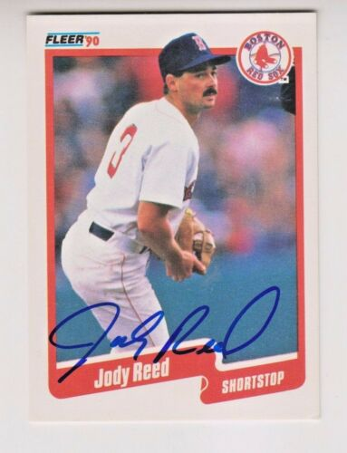 Jody Reed Boston Red Sox 1990 Fleer #284 Signed Autograph