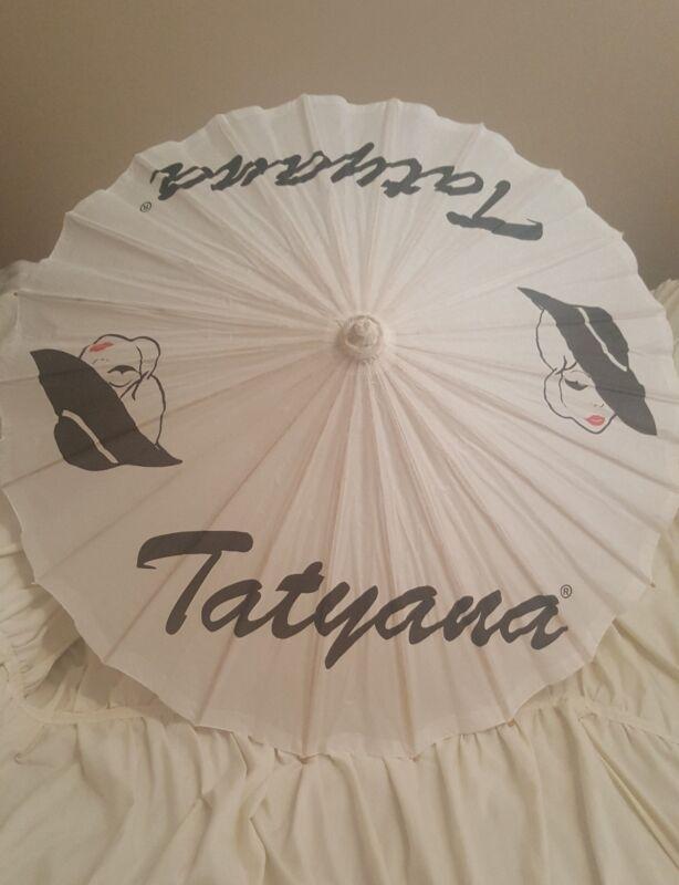 Tatyana Parasol Ivory Bamboo Umbrella