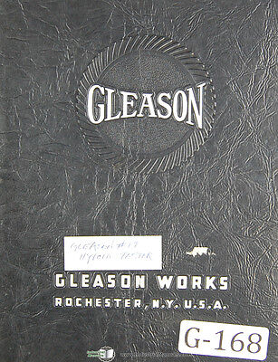 Gleason 17 Hypoid Testing Machine Operations Instructions Manual Year 1937