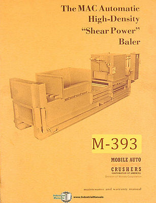 Mac Shear Power Baler Maintenance Manual