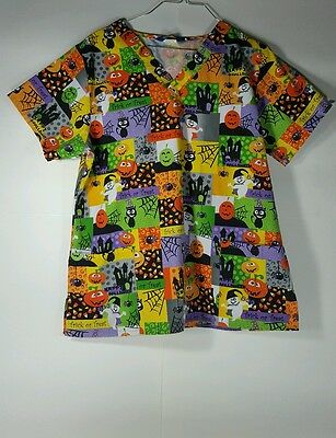 Scrub Wear Halloween Scrubs Top - Halloween Scrubs