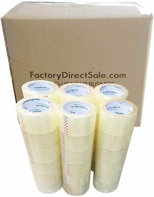 36 Rolls Full Box 2 60 Yards 180ft 2.7mil Sealing Clear Packing Shipping Tape