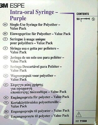 3m Impregum Penta - Syringe Intra-oral Tips Pkg50 Purple