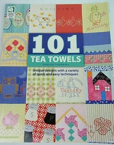 SEWING PATTERN BOOK- 101 Tea Towels - Trice Boerens - Fabric Craft Embroidery