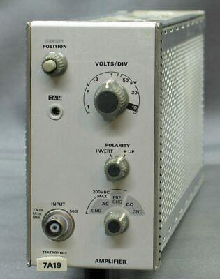 Tektronix 7a19 Amplifier 500mhz Refurbed Tested Good Exc
