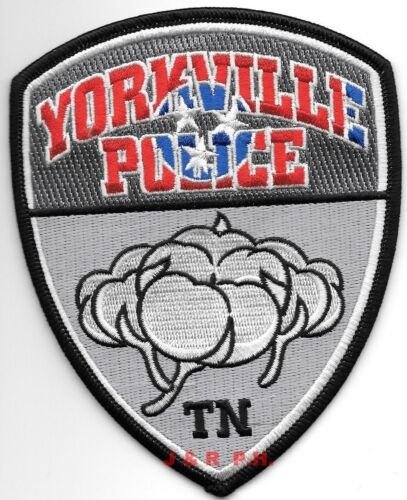 "Yorkville, Tennessee  (4"" x 5"" size)  shoulder police patch (fire)"