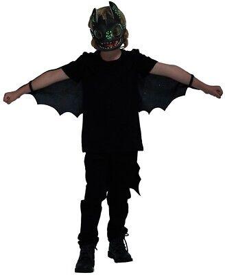 unklen Toothless Drachenzähmen Leicht Gemacht 3 Kostüm Set (Halloween Kostüme Leicht Gemacht)