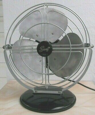 """ANTIQUE/VINTAGE/MID-CENTURY MODERN 50's 10"""" ELECTRIC FAN-PROFESSIONALLY RESTORED"""