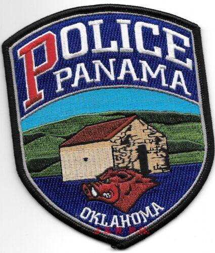 "Panama, Oklahoma  (4"" x 5"" size)  shoulder police patch (fire)"