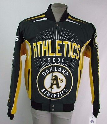 Oakland Athletics Men's S-4XL G-III BURST Designer Cotton Twill Jacket MLB  Oakland Athletics Design