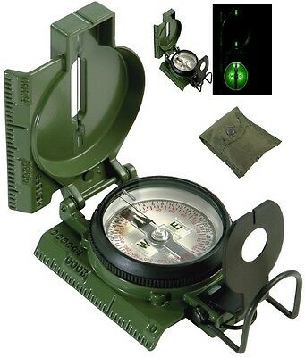 MILITARY MAGNETIC LENSATIC COMPASS by CAMMENGA SWAT BLACK NEW MAY 2019