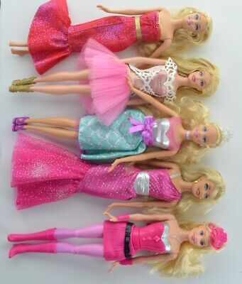 Barbie Dolls Mixed Lot of 5 clothed Dolls