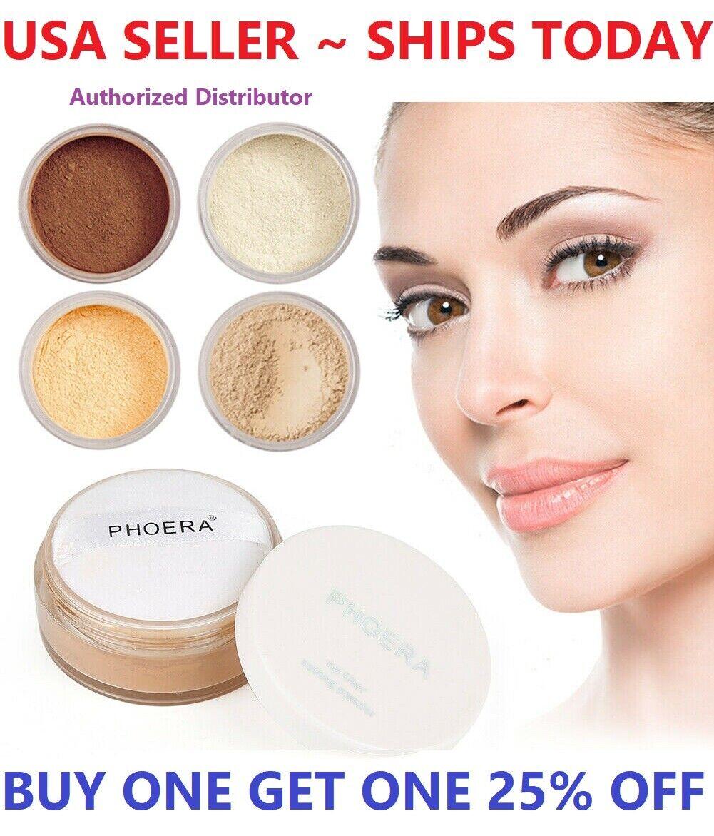 Phoera Translucent Loose Setting Face Powder Makeup Foundati