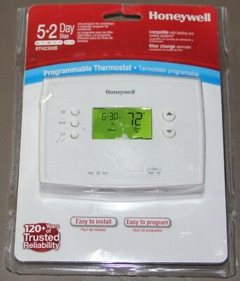 Honeywell Digital 5-2 Day Programmable Thermostat New Open Package RTH2300b