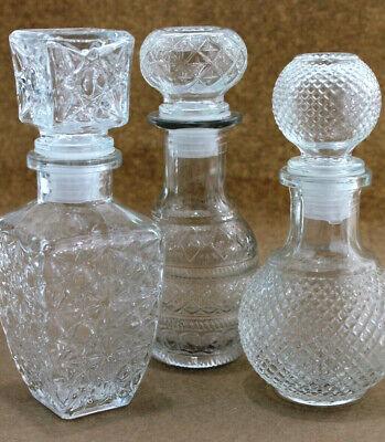 3X Garrafa Jarras Set Con Enchufes Cristal Botella de Agua Vidrio Frasco