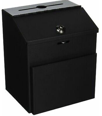 Displays2go Suggestion Box With Lock For Wall Mount Or Tabletop Use Locking ...