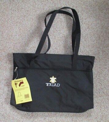 Toppers Brief Bag with Triad Logo—Black (Nylon Brief Tote Bag)