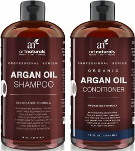 Art Naturals Organic Moroccan Argan Oil Shampoo and Conditioner Set 2 X 16 Oz
