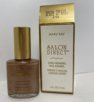 Mary Kay Salon Direct Long Wearing Nail Enamel Polish - MOCHA FREEZE Long Wearing Nail Enamel