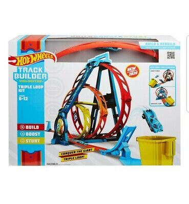 Hot Wheels Track Builder Unlimited Triple Loop Kit, Multi Color, ModelGLC96 Toys