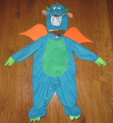 IN CHARACTER 2pc DRAGON Cute HALLOWEEN COSTUME Child Small (18-24M?) (Boys Fairytale Characters)