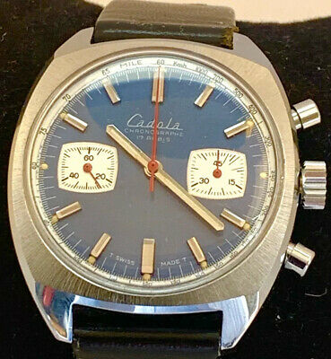 Vintage Cadola Mechanical Chronograph Watch - Working Order - Valjoux 7733