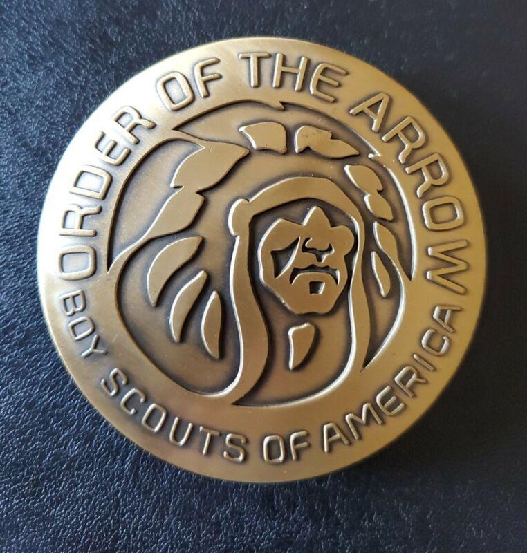 Order Of The Arrow Indian Head MGM Logo Belt Buckle OA BSA Boy Scouts Of America