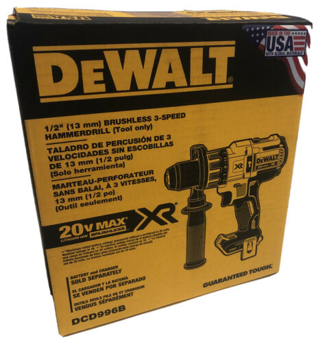 "BRAND NEW DEWALT DCD996B 20V Max XR Li-Ion 1/2"" Brushless 3-"