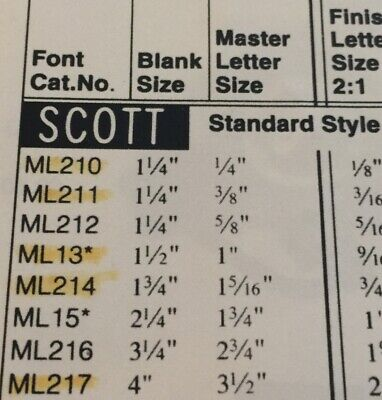 Scott Engraving Font Templates New Ml216 67 Off
