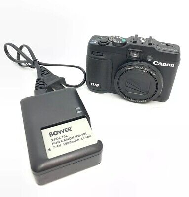 Canon PowerShot G16 12.1MP Digital Camera - Black With Charger