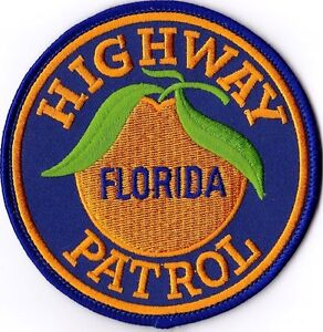 FLORIDA HIGHWAY PATROL - SHOULDER - IRON or SEW ON PATCH