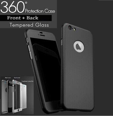 For iPhone 7 Case Tough Hybrid Hard Front Back Shockproof 360 Cover