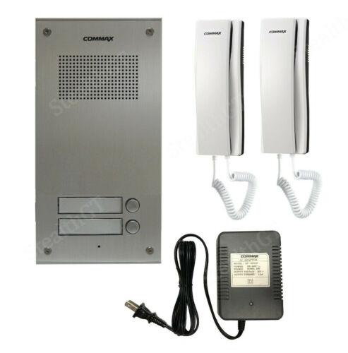 COMMAX Audio Intercom KIT. 1x 2 Buttons Panel, 2x Audio Phone,1x Power Adapter