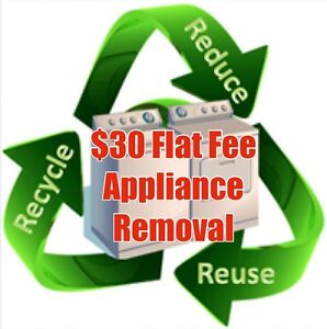 Flat fee washer & dryer removal