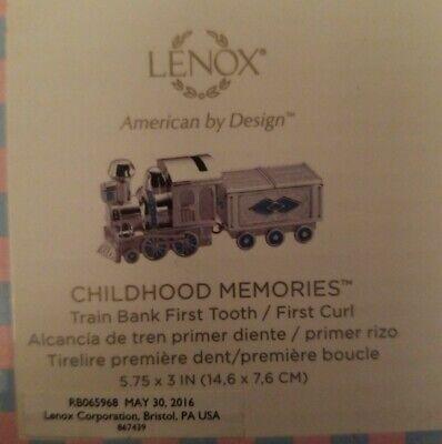 Lenox Childhood Memories Train Bank First Tooth/ First Curl  Boy Train Bank