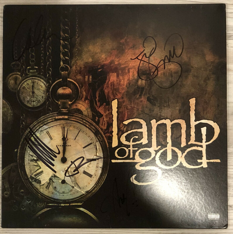 Lamb of God SIGNED Vinyl Brand New OFFICIAL Autographed Randy Blythe