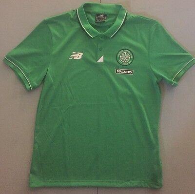Celtic Football Shirts - The Celtic Football Club Jersey New Balance Polo Shirt Men's Large NWT