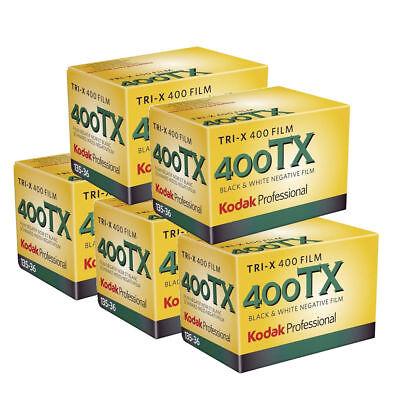 5x Kodak TRI-X 400TX 35mm 36 Exposure Pro Black and White Film