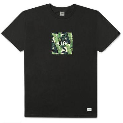 Herren-schwarzer Tee (Huf Weltweit Folie Kiste Kurzarm T-Shirt Herren Schwarzer Tee TS00663)