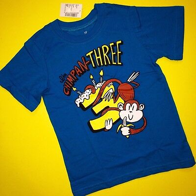 NEW! 3rd Birthday 3 Years Baby Boys Graphic Shirt 3T Chimp Monkey Gift! Nice! SS](Monkey Boy Graphics)