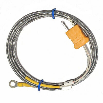 Ring 9 Mm X 5 Mm Ring High Temp Thermocouple K Type Sensor 2m With Meter Plug