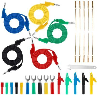 26x Electrical Testing Tool Back Probe Kit With Alligator Clip Leads Banana Plug