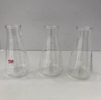 Pyrex 500 Ml Flask No. 5100 Usa Lot Of 3