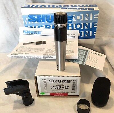 Vintage SHURE 545D Unidyne III Dynamic Cardioid Microphone With A2WS Wind Screen