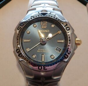 Seiko Kinetic Auto Relay Men's Stainless Watch SMA113 NEW w/Box MSRP $595!!