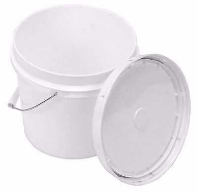 - 1 Gallon White Bucket with Snap On Lid