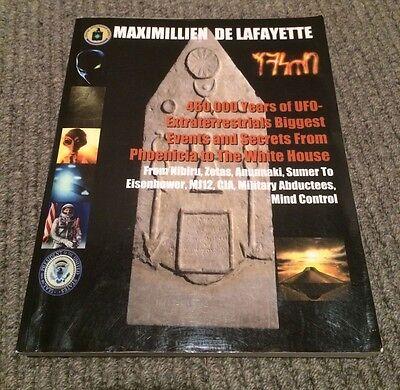 Maximillien De Lafayette 460000 Years of UFO Secrets paperback book Tsarion Like