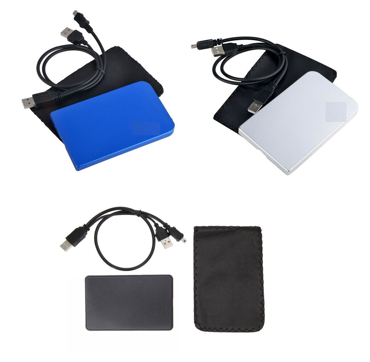 CableVantage 2.5″ Inch Sata USB 2.0 Hard Drive HDD Enclosure Black Blue Silver Computers/Tablets & Networking
